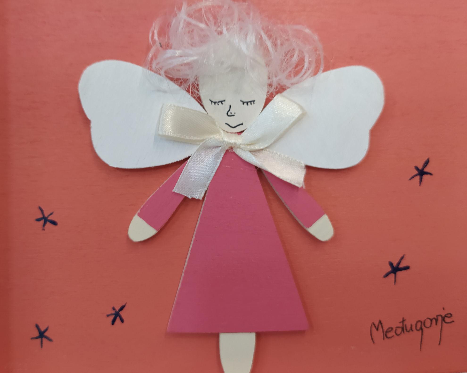 Slika Anđele čuvaru mili molitva na drvetu - Njemački