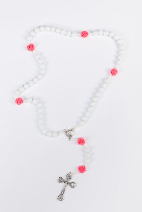 Picture of Plastic rosary with rose beads