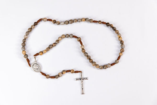 Picture of Job's tears rosary  - thread