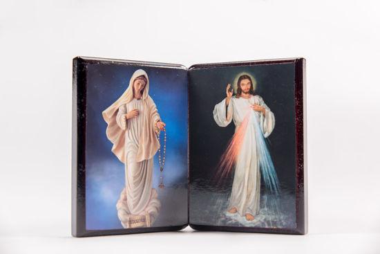 Slika Međugorska ikona sa dvije slike - pravokutna