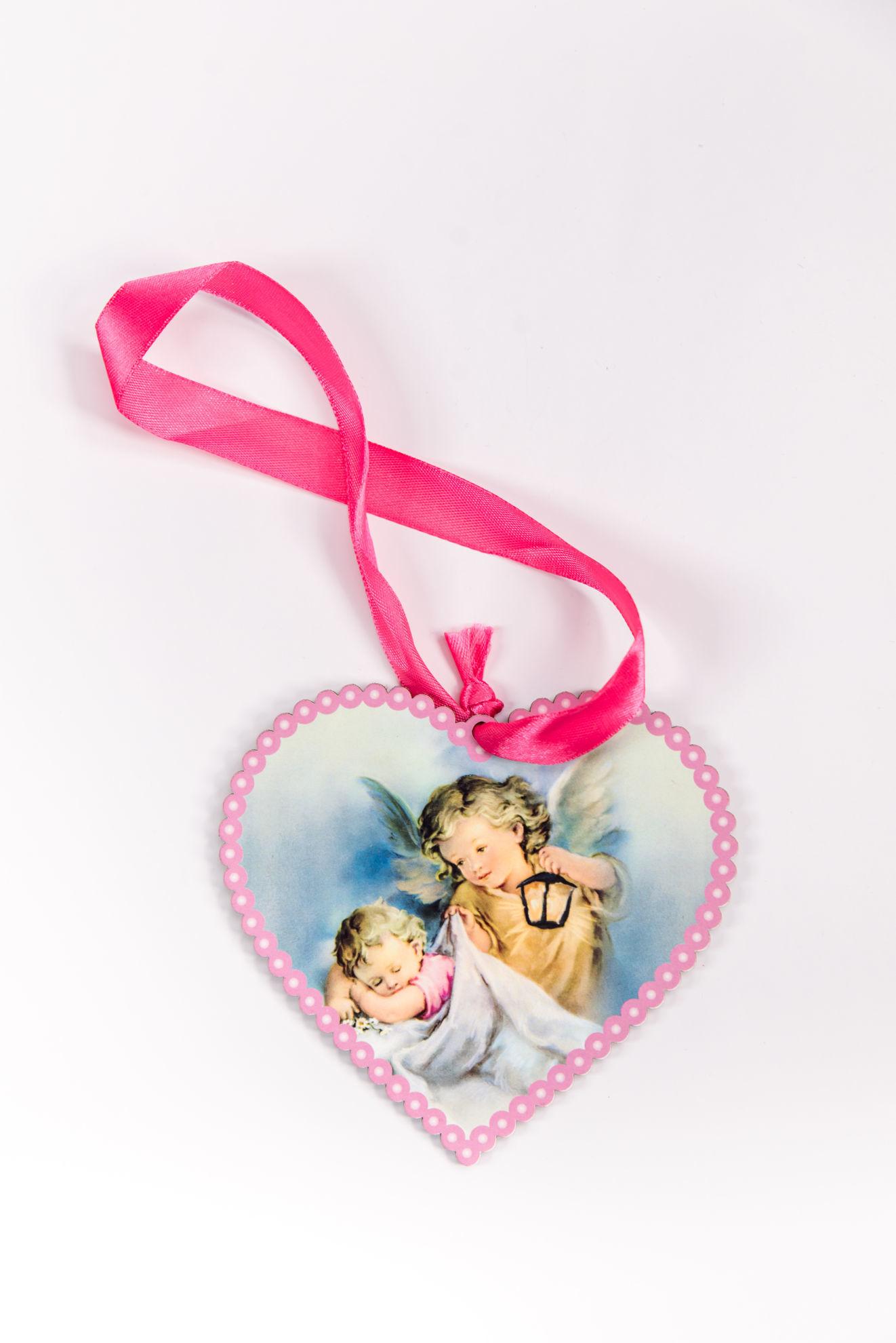 Slika Ikona  sa anđelima u obliku srca DEV 3
