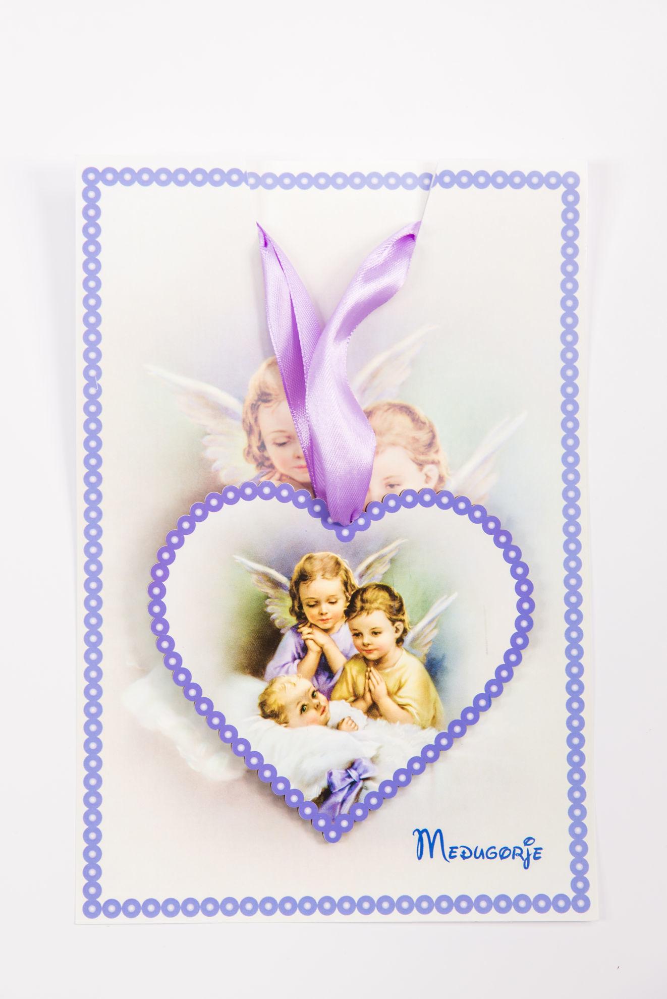 Slika Ikona  sa anđelima u obliku srca DEV 4