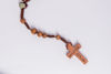 Picture of Thorn tree rosary with wooden Međugorje cross on a thread  B