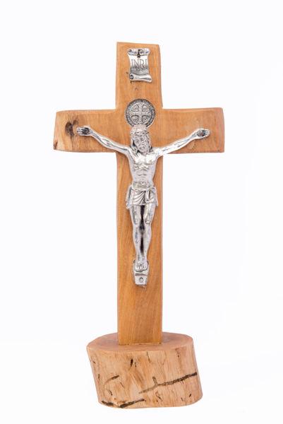 Slika Olive wood cross on a stand U.D. 1