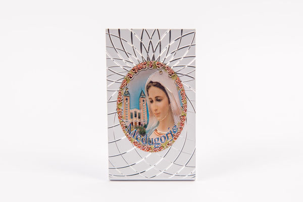 Picture of PVC Međugorje Icon on a stand  - rectangle