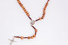 Picture of Thorn tree rosary with metal Međugorje cross on a thread  B