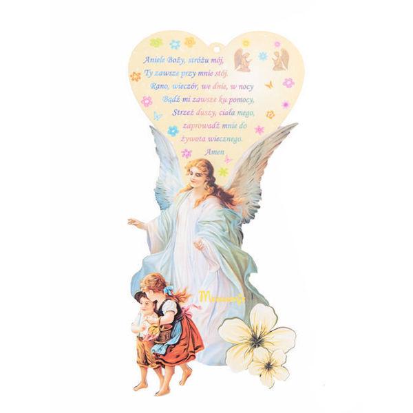 Slika Anđele čuvaru mili - ikona na Poljskom jeziku