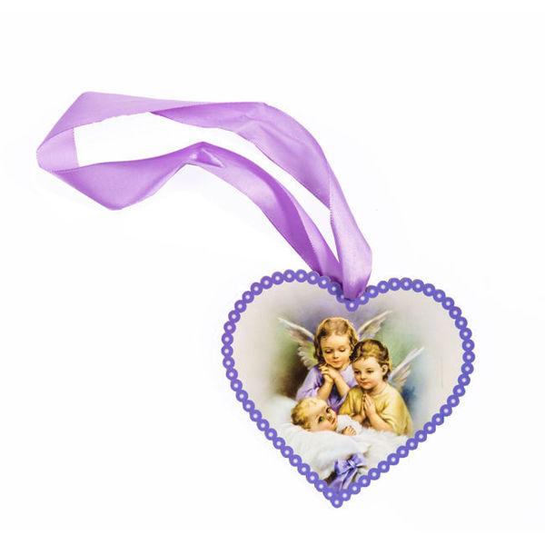 Picture of Heart shaped icon with angels DEV 4