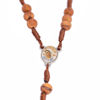 Picture of Thorn tree Queen of Peace rosary on thread B