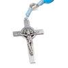 Slika Drvena krunica sa srebrenim križem i raskrižjem S.B.