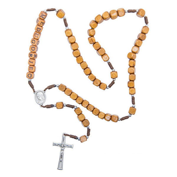 Picture of Wooden square rosary