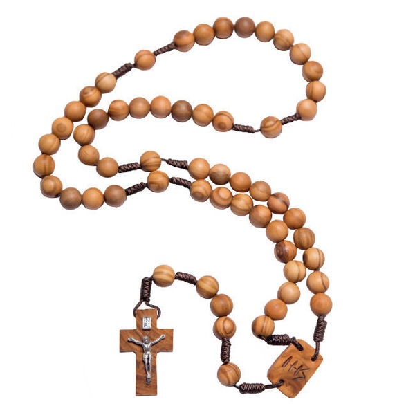 Picture of Olive wood rosary M24K