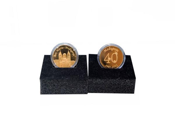 Slika Pozlaćeni bakreni medaljon - 40. godišnjica IZ8