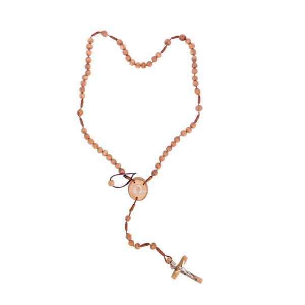 Slika Krunica od drače na koncu sa drvenim križem i raskrižjem Međugorje B